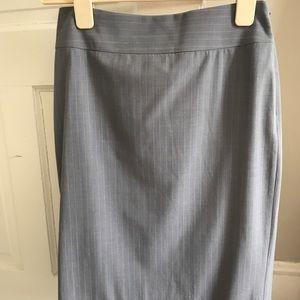 Gray Stripe Banana Republic Skirt